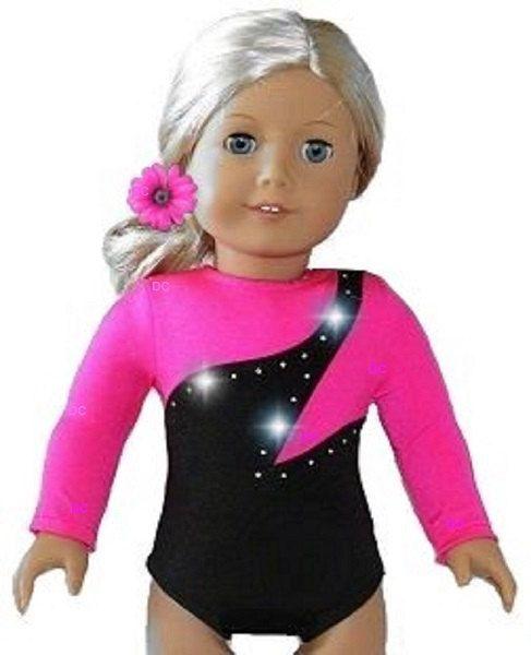 """Neon Green Leotard 18/"""" doll clothes fits American Girl McKenna Gymnastics Ballet"""