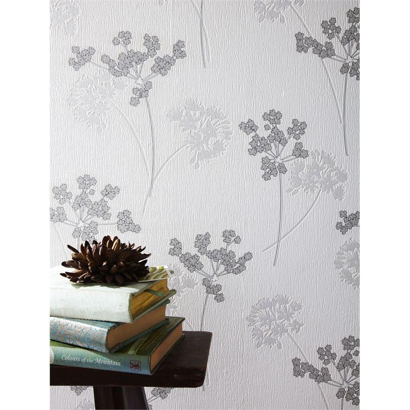 Superfresco Easy Silver Milly Wallpaper Silver Wallpaper Temporary Wallpaper Apartment Temporary Wallpaper