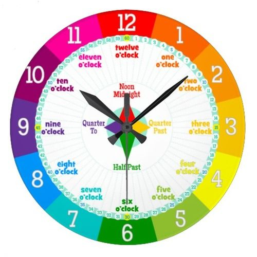 Every Second Counts Rainbow Colors Learning Clock Cheap ...