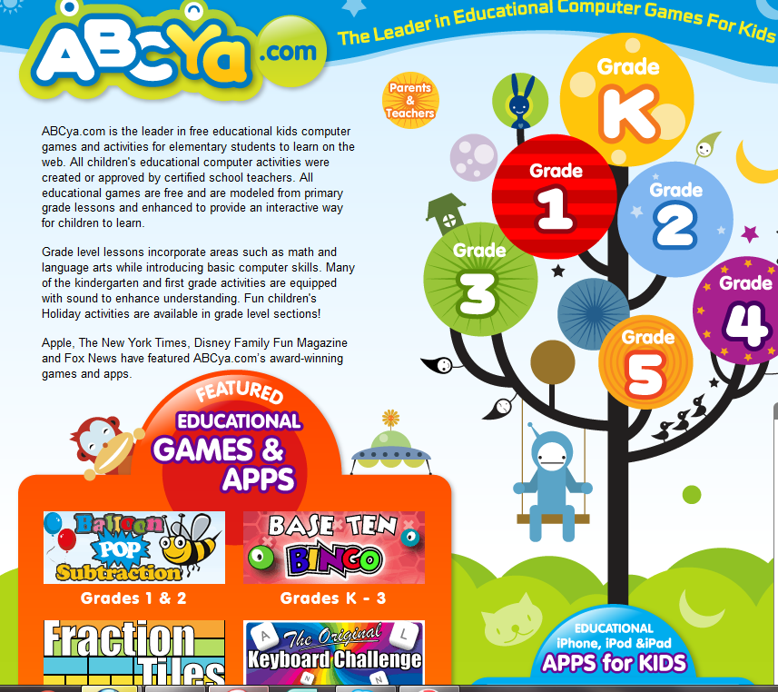 Free Educational Resource Abcya Com Online Learning Games K 5 Computer Games For Kids Educational Websites For Kids Reading Websites For Kids
