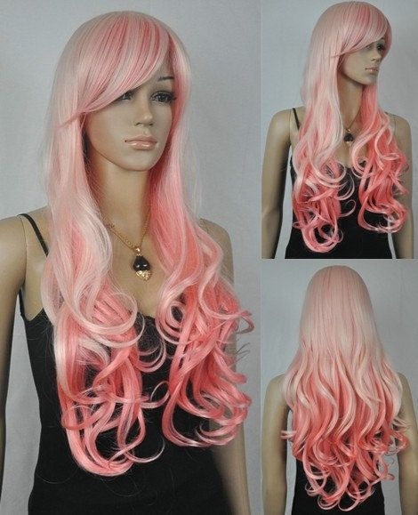 Peaches // Ombre Full Synthetic Wig Want if I lose my hair