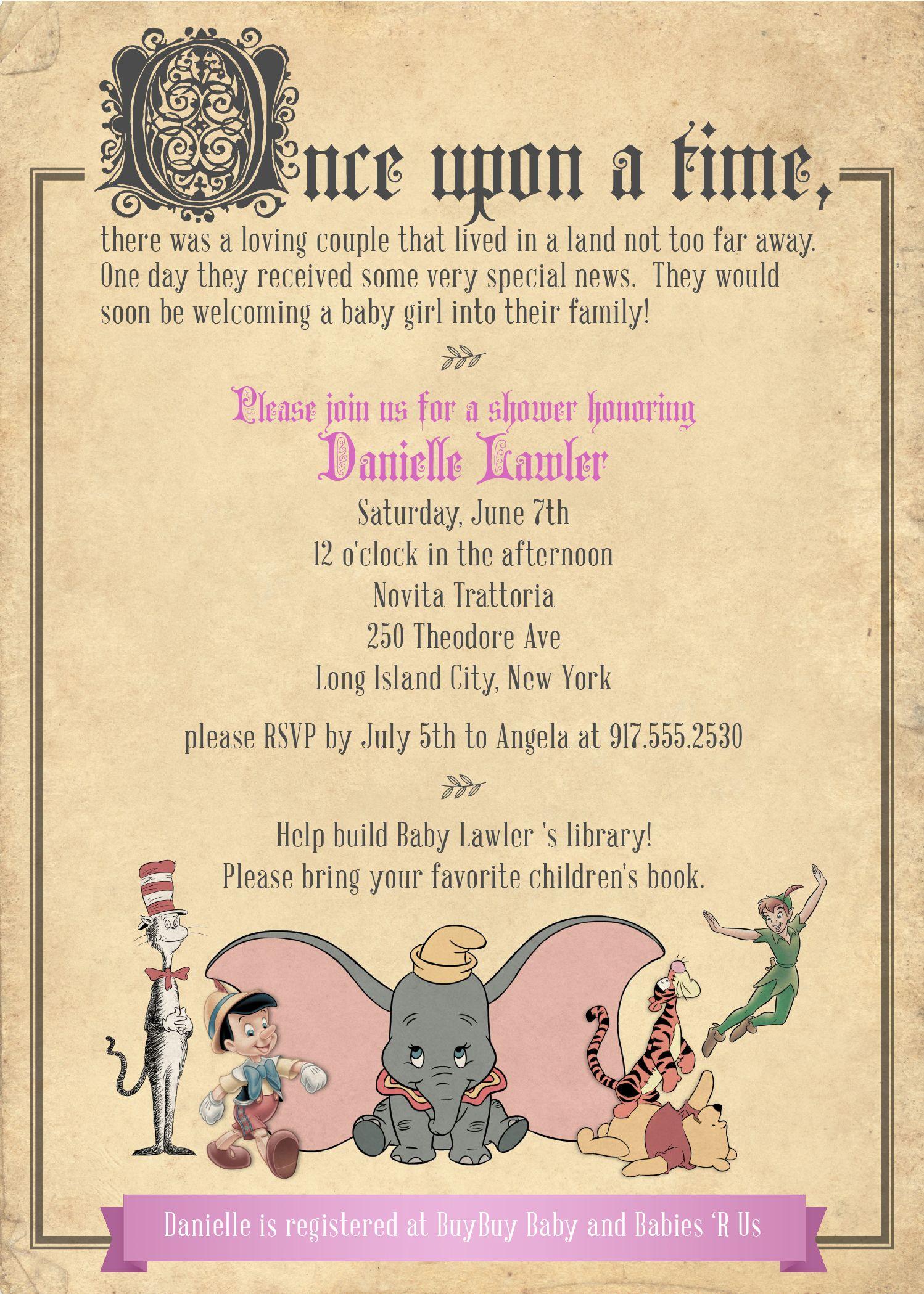baby shower invitation for a storybook fairytale theme | random ...