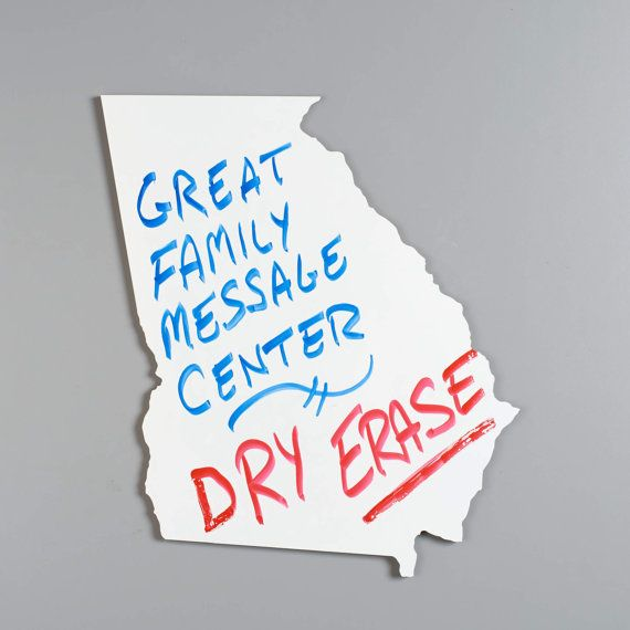 medium size state shape dry erase whiteboard cutout any us state