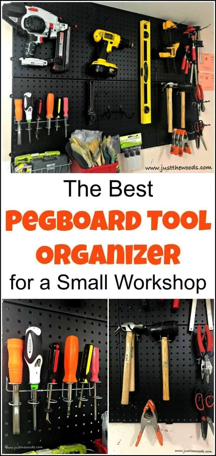 looking for pegboard tool organorganWhen looking for pegboard tool organorgan Adjustable Pegboard Shelf DIY Ultimate Workbench DIY garage pegboards are our favorite solut...