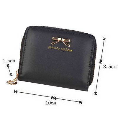 Women Clutch Bowknot Cute Wallet Card Holder Small Bags Leather Purse Popular