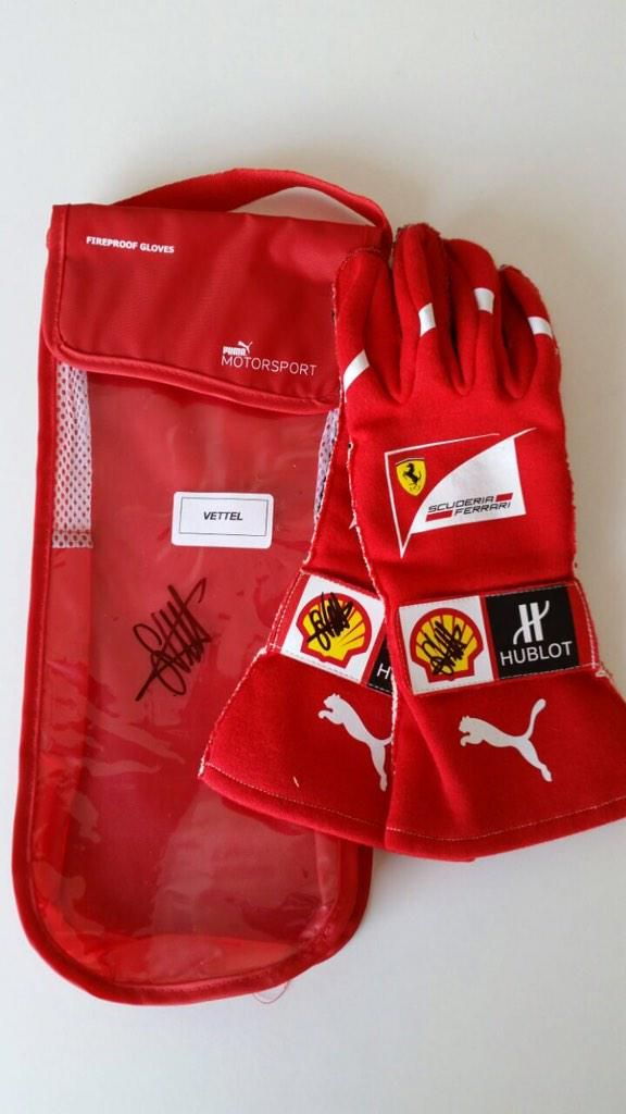 Sebastian Vettel s first Ferrari gloves on sale for  4850. Expected to be  sold within a day. Note that these gloves cost  119 retail when new. 6caa1cb69ba