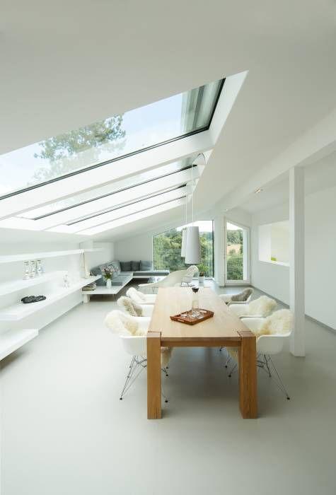 Sanierung Einer Dachgeschosswohnung: Moderne Wohnzimmer Von Karl  Kaffenberger Architektur   Einrichtung