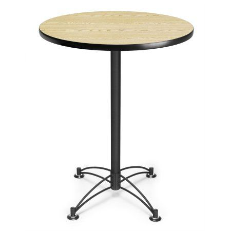 Ofm Model Cblt30rd 30 Inch Round Cafe Height Table Oak