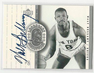 Walt Bellamy 1999/00 Upper Deck Legendary Signatures Auto Card Knicks HOF