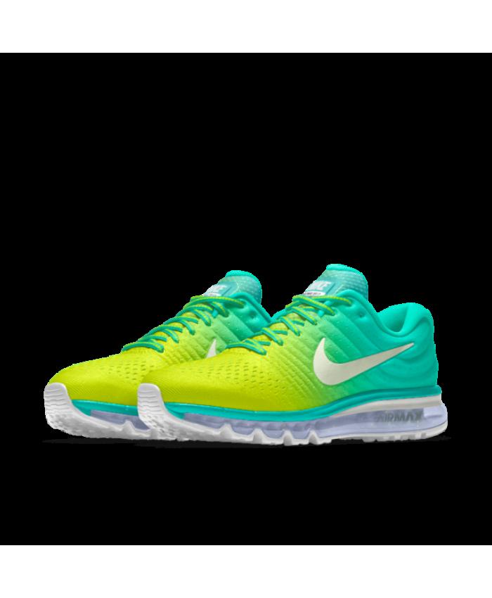 timeless design 90230 3132a Nike Air Max 2017 iD Lemon Yellow/Teal/White Women's Shoes ...
