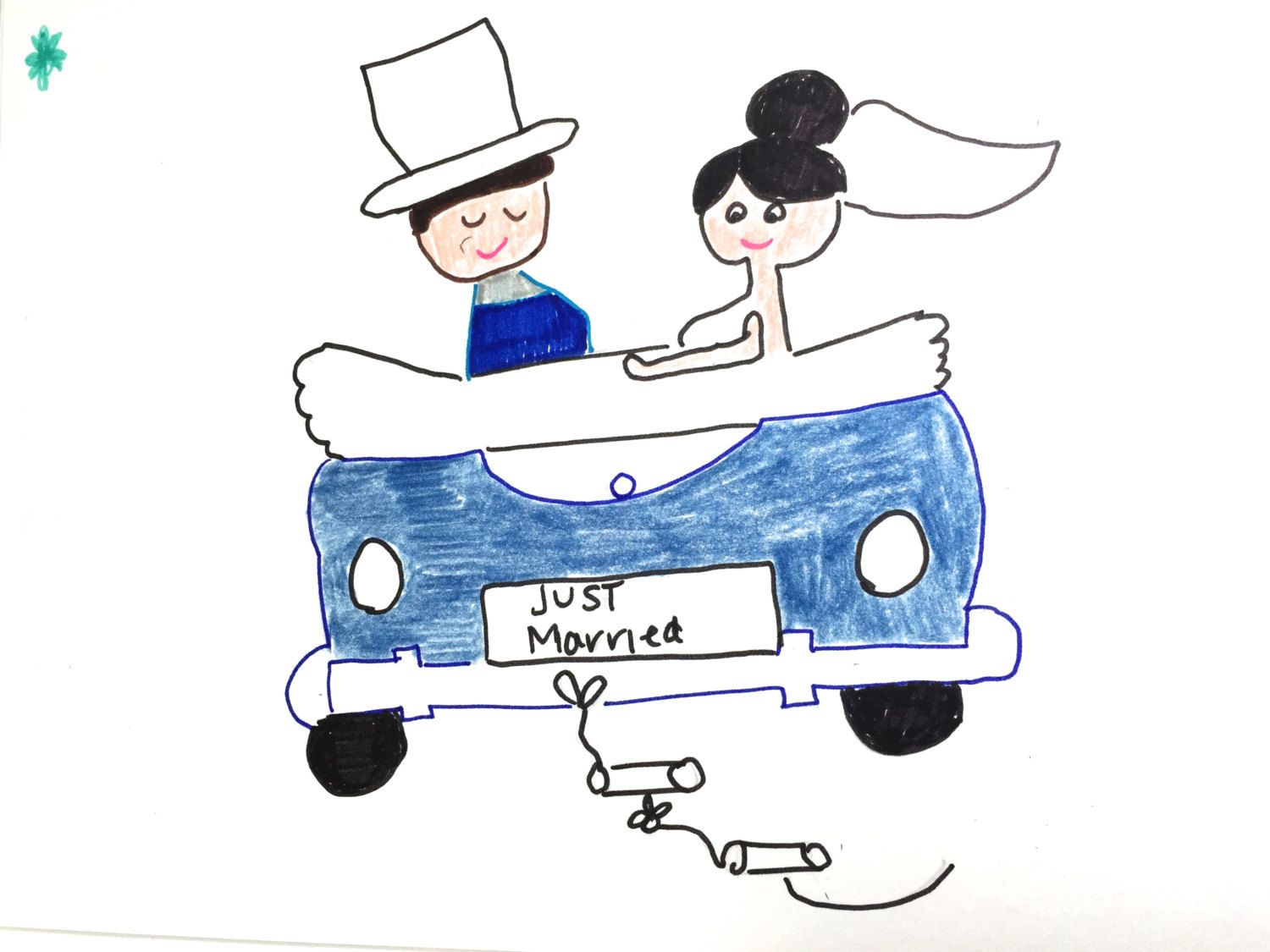 Happily newlywed married couple congratulations card blue white happily newlywed married couple congratulations card blue white black lilymoonsigns blue white black newly married engagement kristyandbryce Image collections
