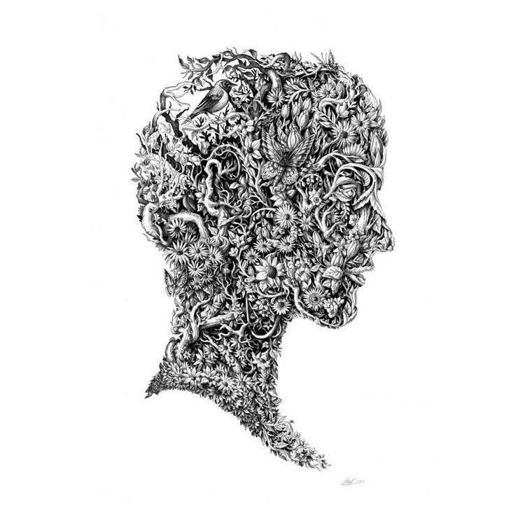 Intrincados Retratos Inspirados en las Cuatro Estaciones por Iain ...