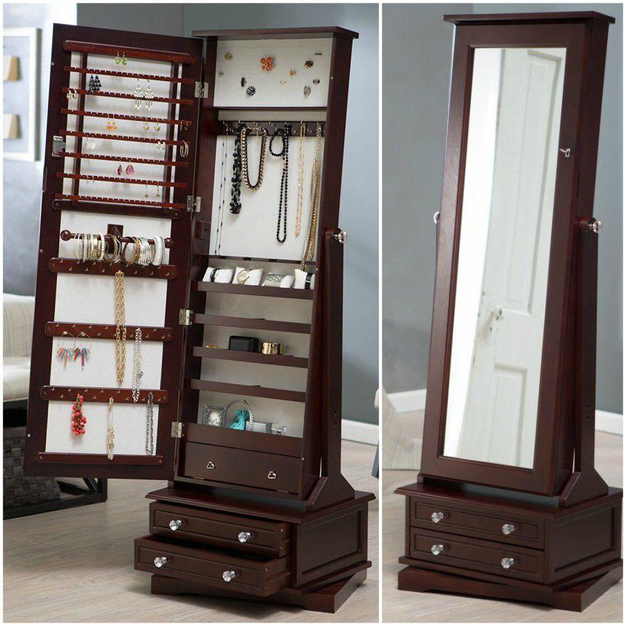 25 Beautiful Standing Mirror Jewelry Armoires Zen Merchandiser