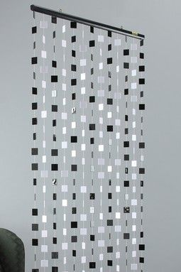 Solid Black And White Beaded Curtain Accent Decoracion Hogar Decoracion De Unas Decoracion De Cumpleanos