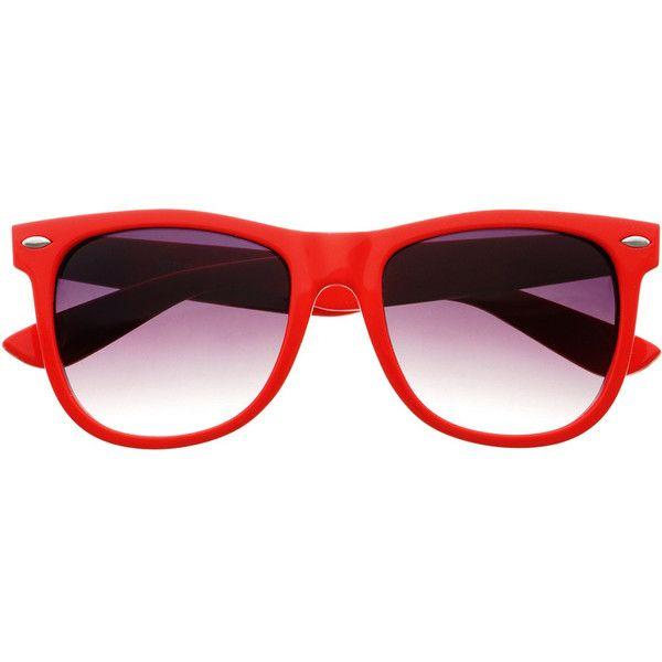 Sunglasses Retro Wayfarer Novelty New Design Red Mirrored