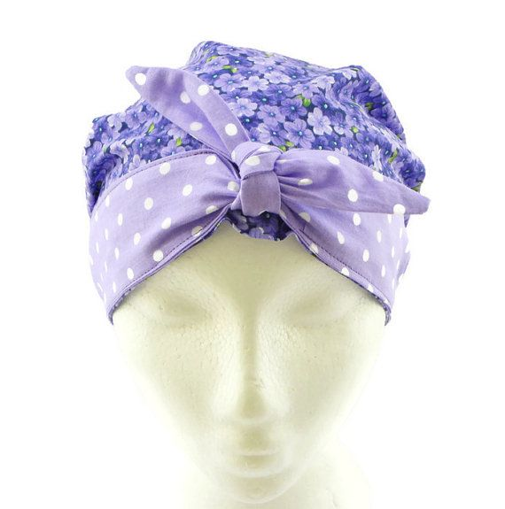 Womens Scrub Hat with Bow Scrub Cap Surgical by CroweScrubCaps | RN ...