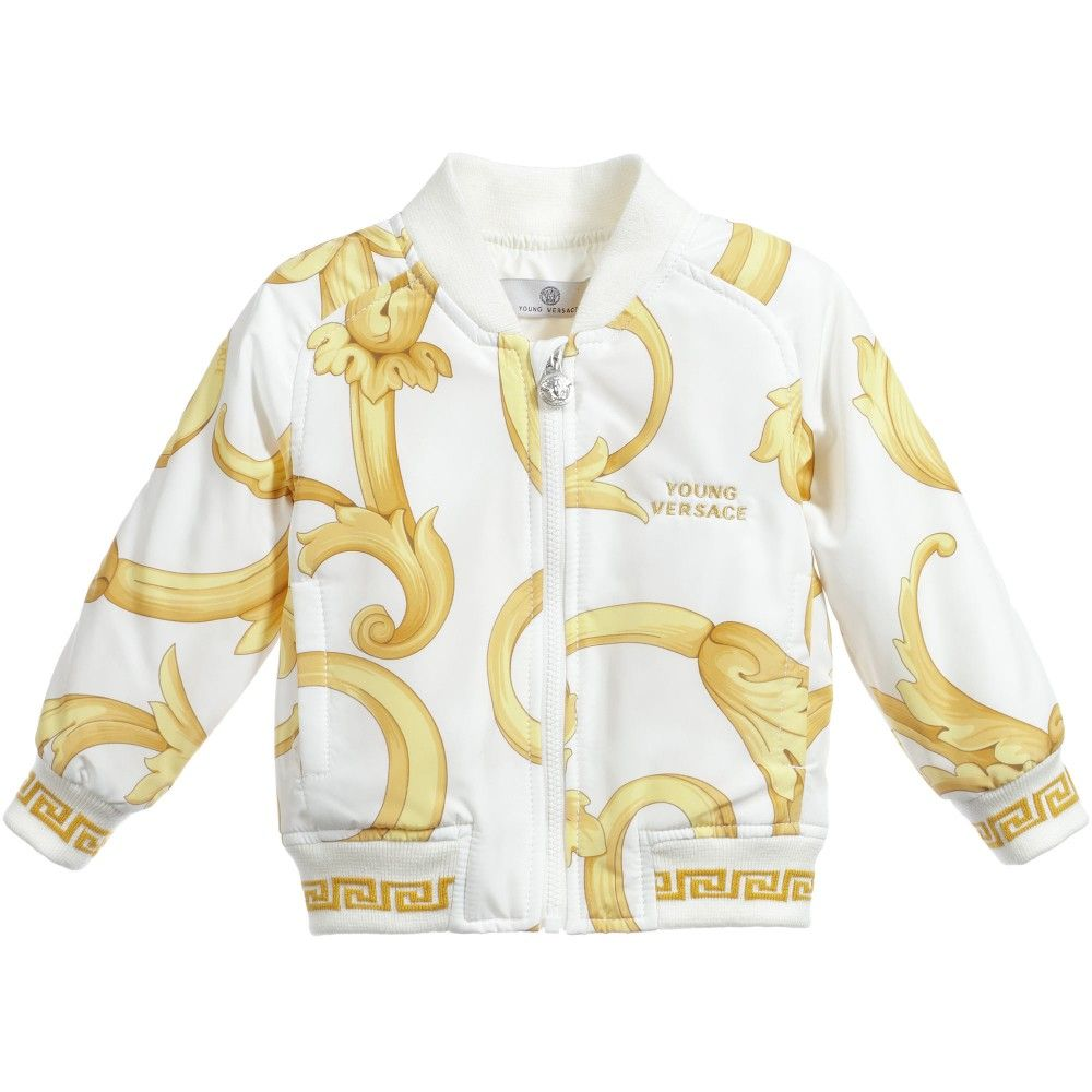 5b97c5b228f0 Young Versace Gold BAROQUE Baby Sweatshirt. Shop from an exclusive  selection of designer Tops