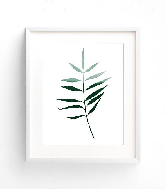 Set of 2 green art prints dark green art set minimal forest green botanical print leaf print green and white prints abstract painting green art