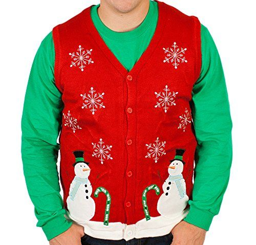 Ugly Christmas Sweater - Lighted Winter Wonderland Sweater Vest with LED  Lights (XXX-Large) By Festified - Ugly Christmas Sweater - Lighted Winter Wonderland Sweater Vest With
