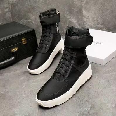 06a76e675636 Men s Popular FOG Shoes FEAR OF GOD Military calf leather platform High-top  Sneakers