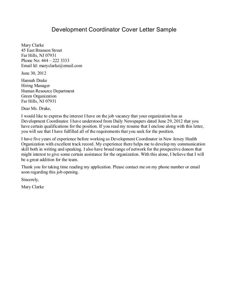 how to write a internship cover letters