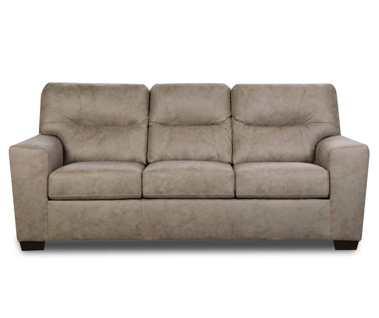 Hilltop Pebble Tan Faux Leather Sofa in 2019   Faux leather ...