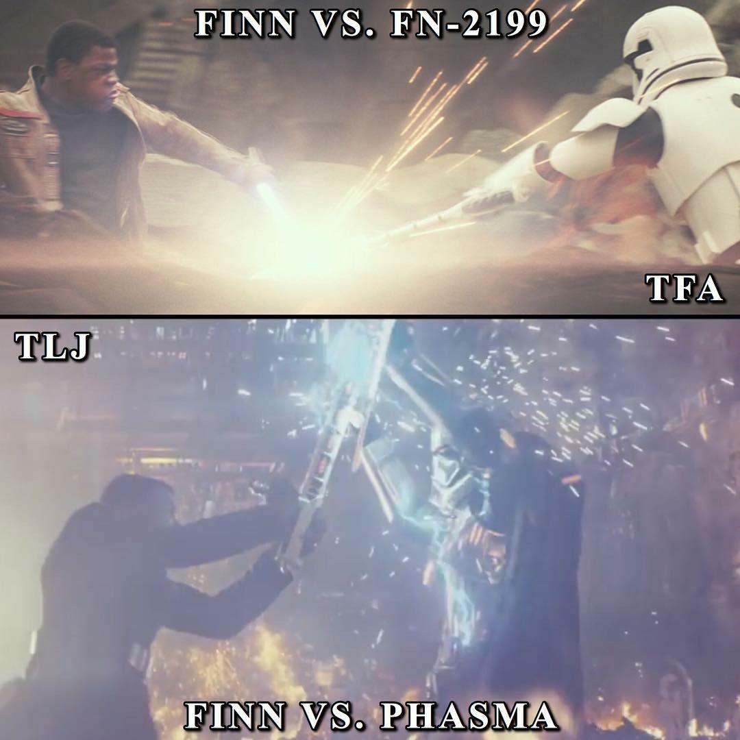 Finn Vs Fn 2199 Finn Vs Captain Phasma Star Wars Empire Strike Last Jedi
