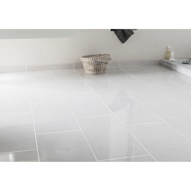 Carrelage Sol Et Mur Forte Effet Marbre Blanc Olympie L 30 X L 60