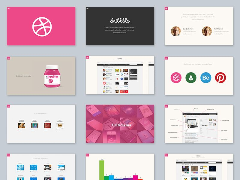 Introduction To Dribbble Presentation Template Free Graphic Design Templates Template Design
