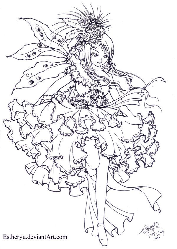 Visual LOlita:Contest Lineart by =Estheryu on deviantART   Fairies ...