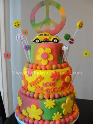 60s Themed Cake Peace Love And Murder The Ultimate
