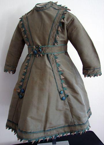 Circa 1860, Dress w/ Scallops