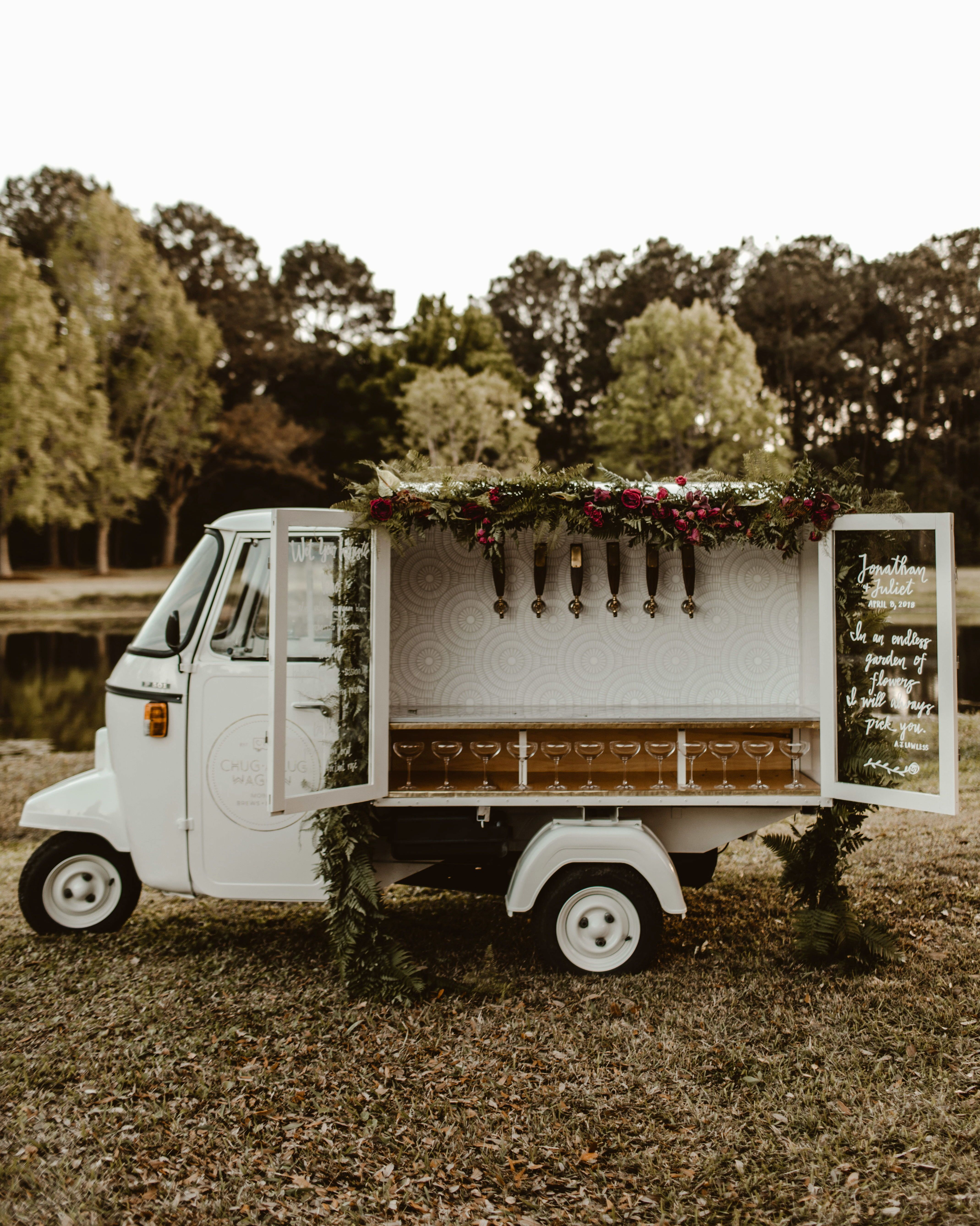 Mobile Bars And Food Trucks That Can Roll Right Up To Your Party Food Truck Wedding Wedding Catering Mobile Bar