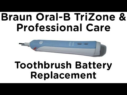 Video Guide To Replacing The Battery In The Braun Oral B Professional Care And Trizone Electric Toothbrushes Brushing Teeth Oral B Oral