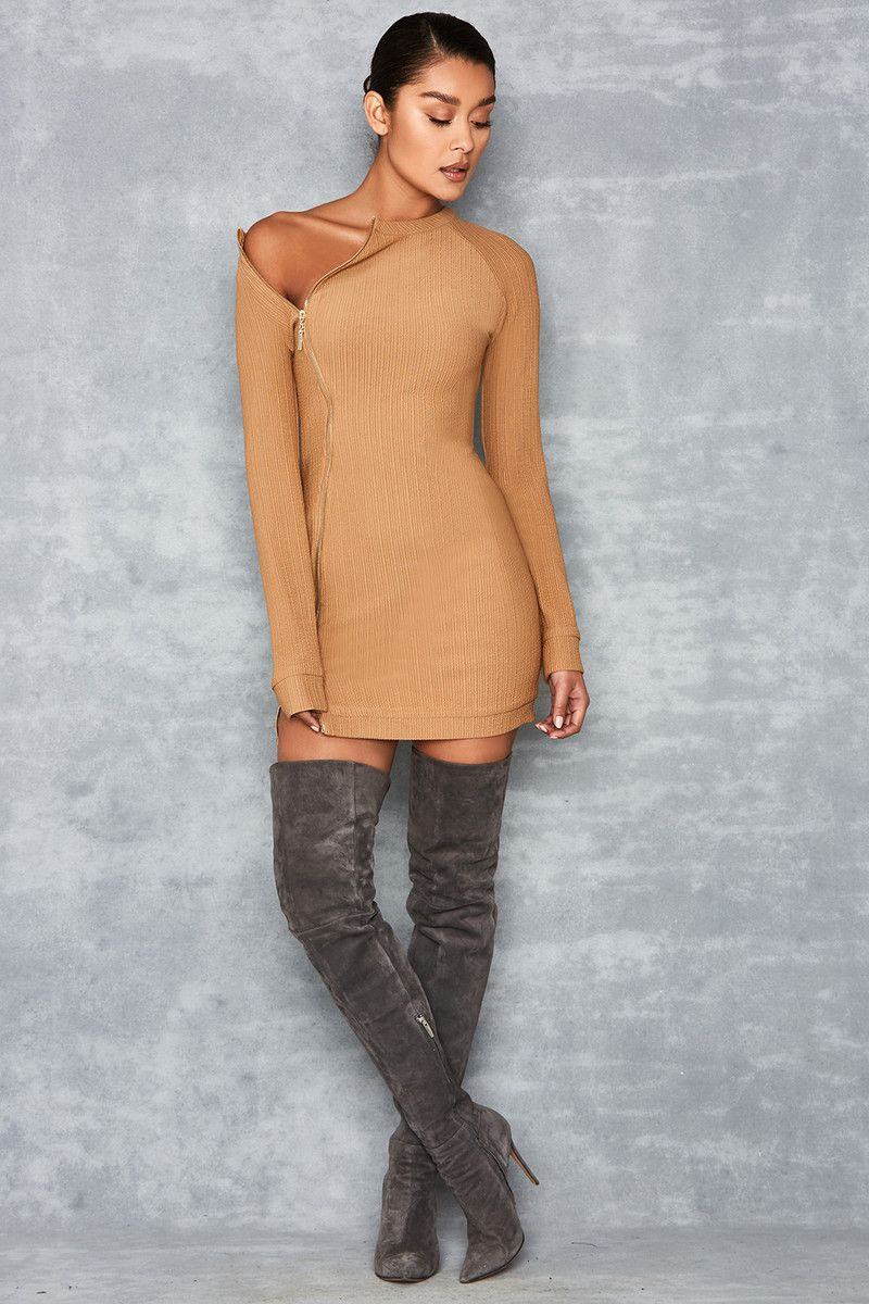 548e4c2baa Shameless  Brown Ribbed Jersey Mini Dress - Mistress Rocks ...