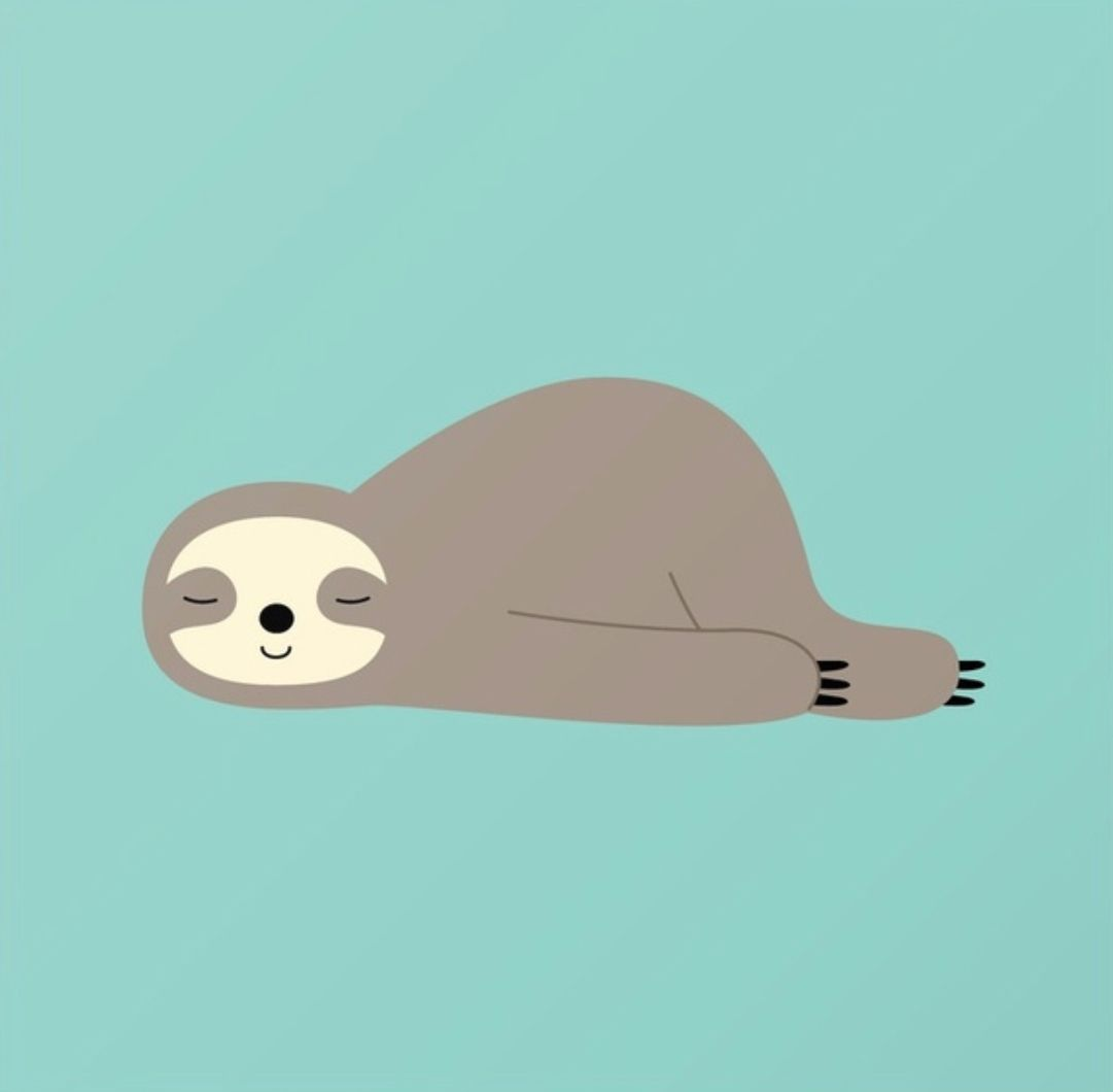 Do Nothing Andy Westface Sloth art, Cute wallpapers