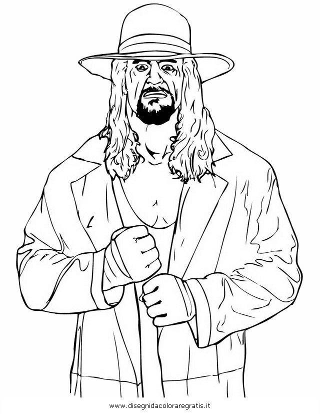 Undertaker Coloring Pages | Wallpapers Wwe Coloring Pages Of ...