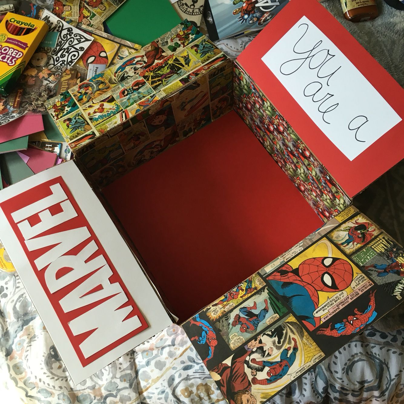 Marvel Themed Care Package Military Love Pinterest