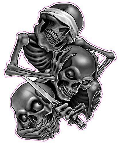 Robot Check Evil Skull Tattoo Evil Tattoos Skull Decal