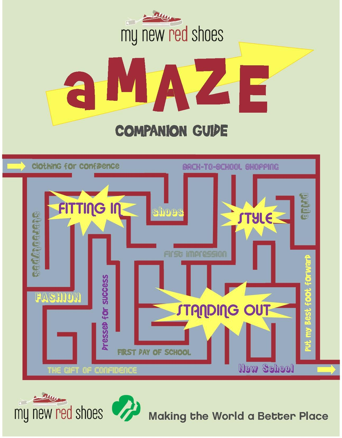 Check out My New Red Shoes' aMAZE Leadership Journey Companion Guide where  you can help Cadette Girl Scouts learn how to help homeless and low-income  ...