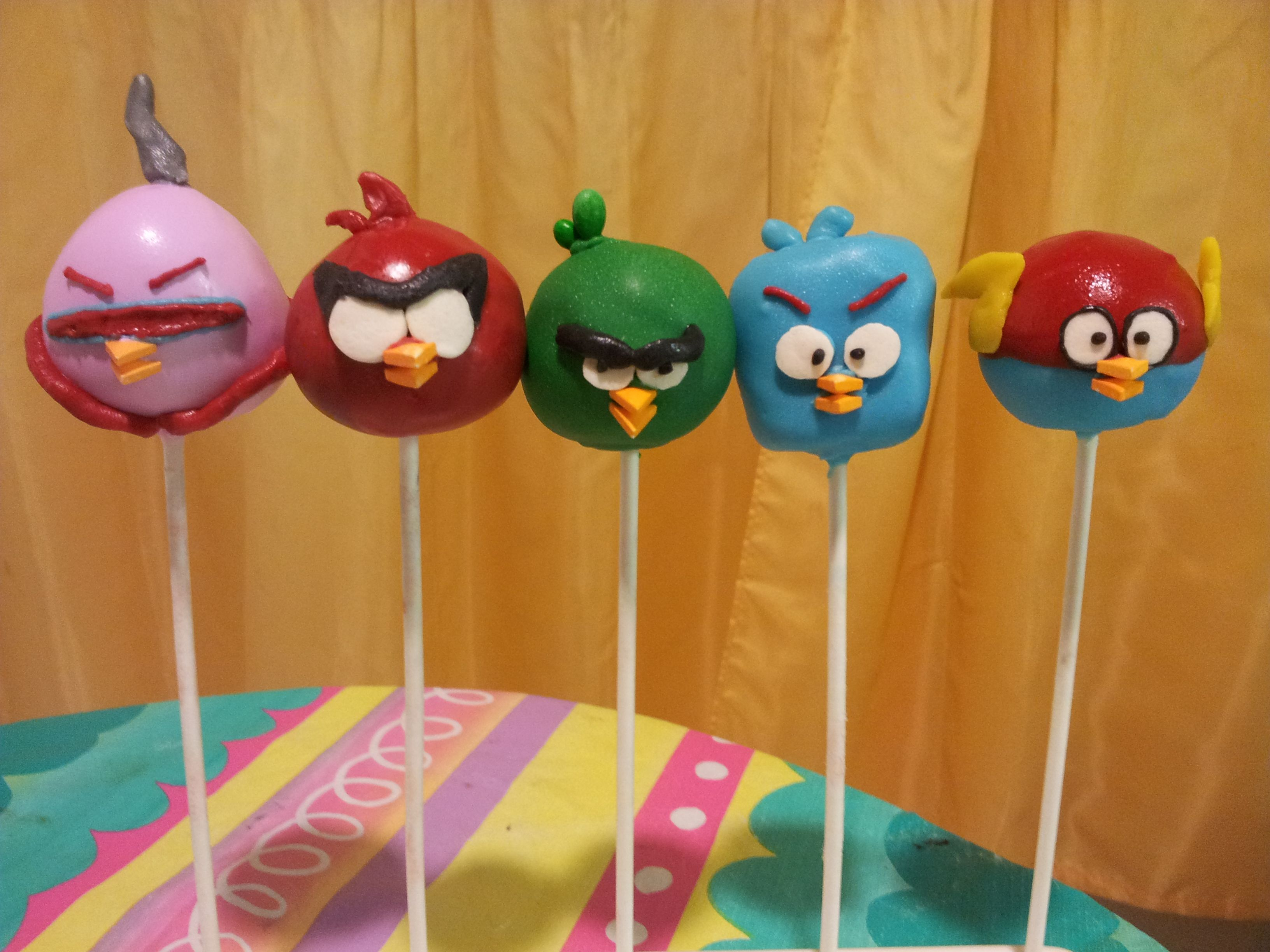 Angry Birds Space Cake Pops