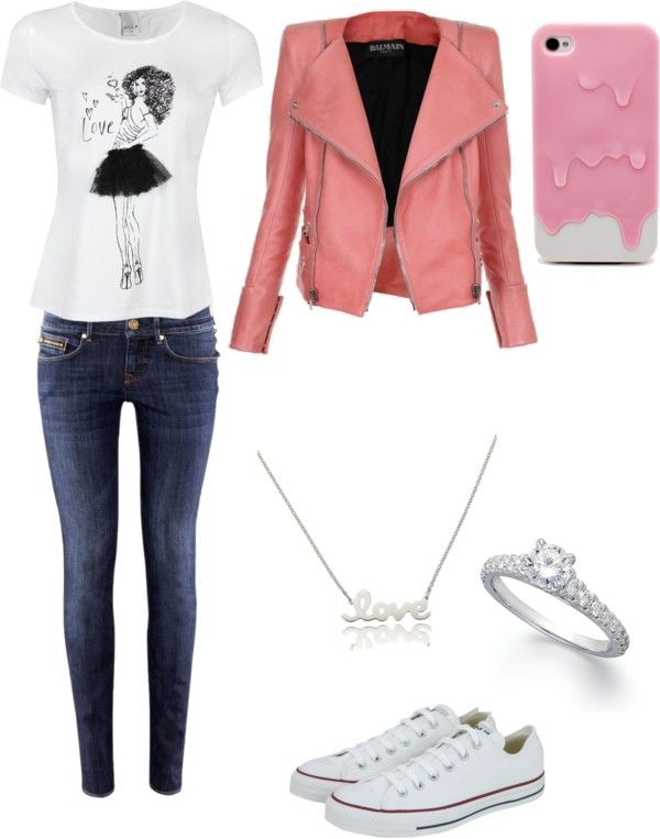 """schoolday"" by melaniebeentjes ❤ liked on Polyvore"