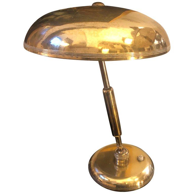 Mid Century Modern Brass Italian Table Lamp Circa 1940 Bedside Lamp Modern Modern Table Lamp Design Italian Table