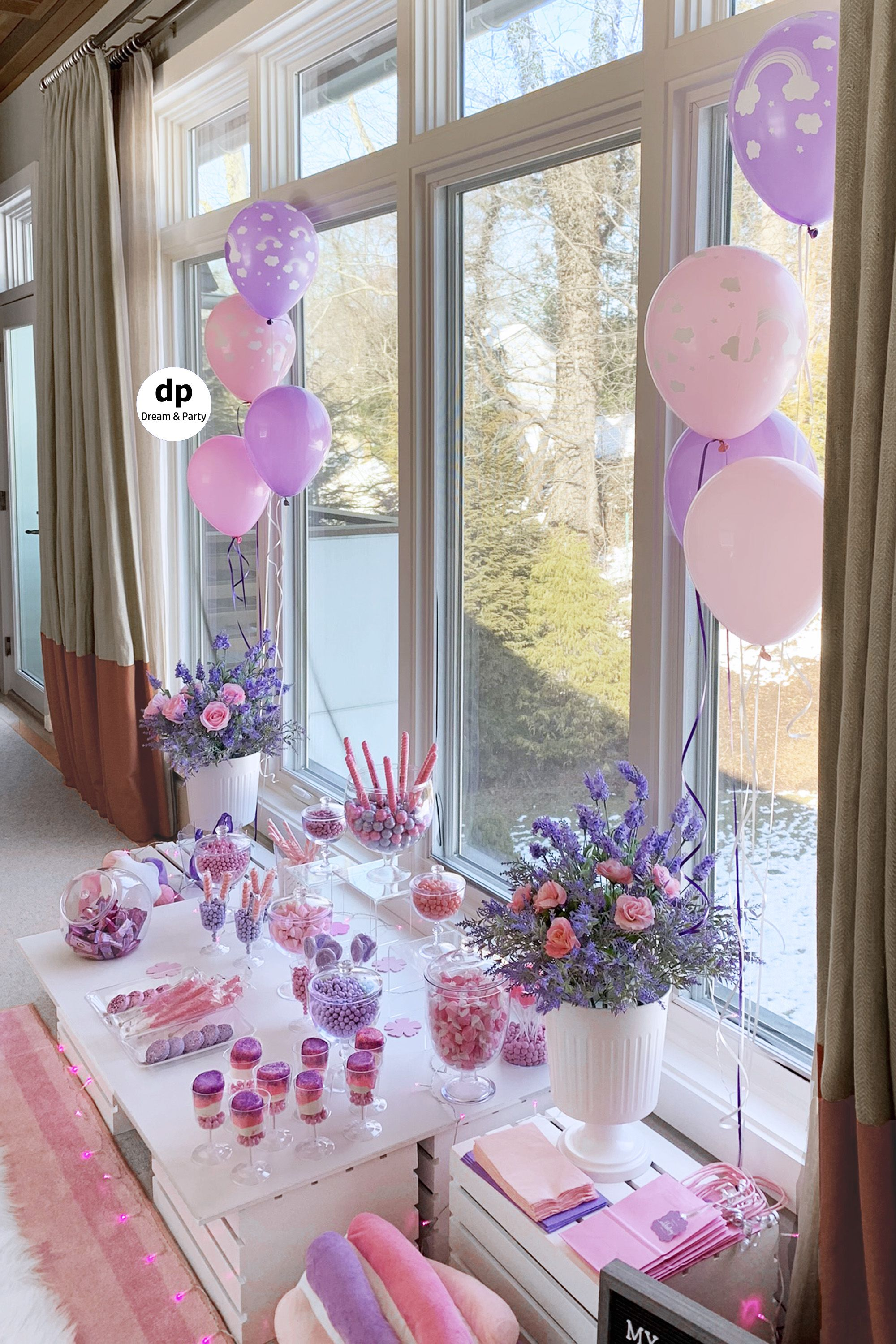 Candy Buffet Pink Purple Candy Table Sweets Table Pink Candy Buffet Pink Candy Table Purple Candy Buffet