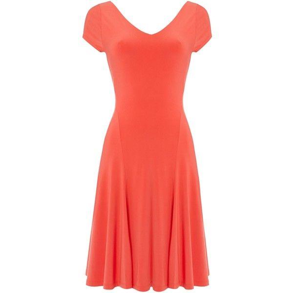 Ralph Sleeve ❤ Lauren Neck 220 V Cap Falzara Liked Dress TpdxFqf