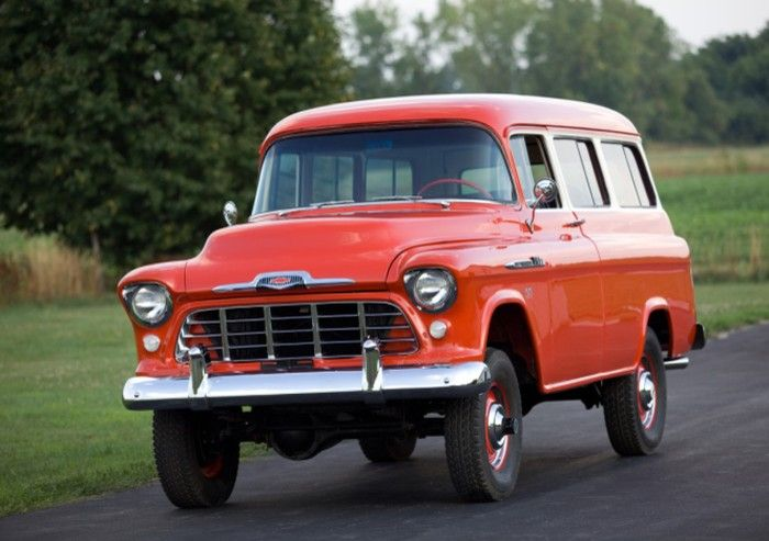 1956 Chevrolet Suburban 4WD conversion.