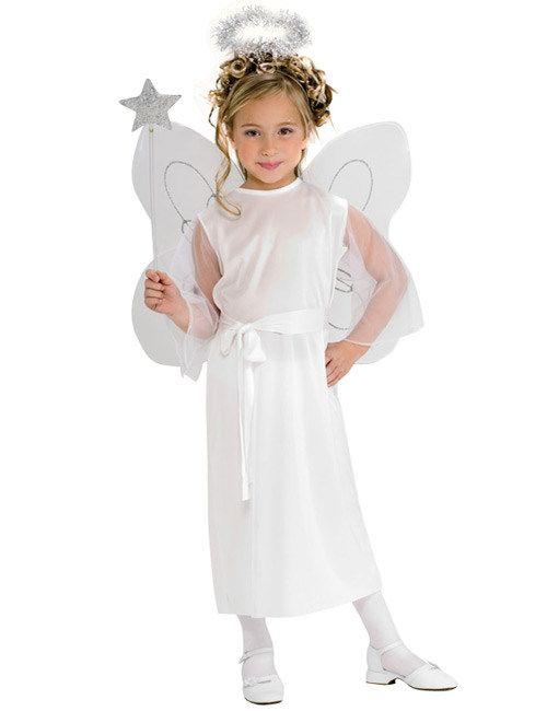 Engelsflügel mit Heiligenschein Engel Kostüm weiß Engelskostüm Weihnachtsengel