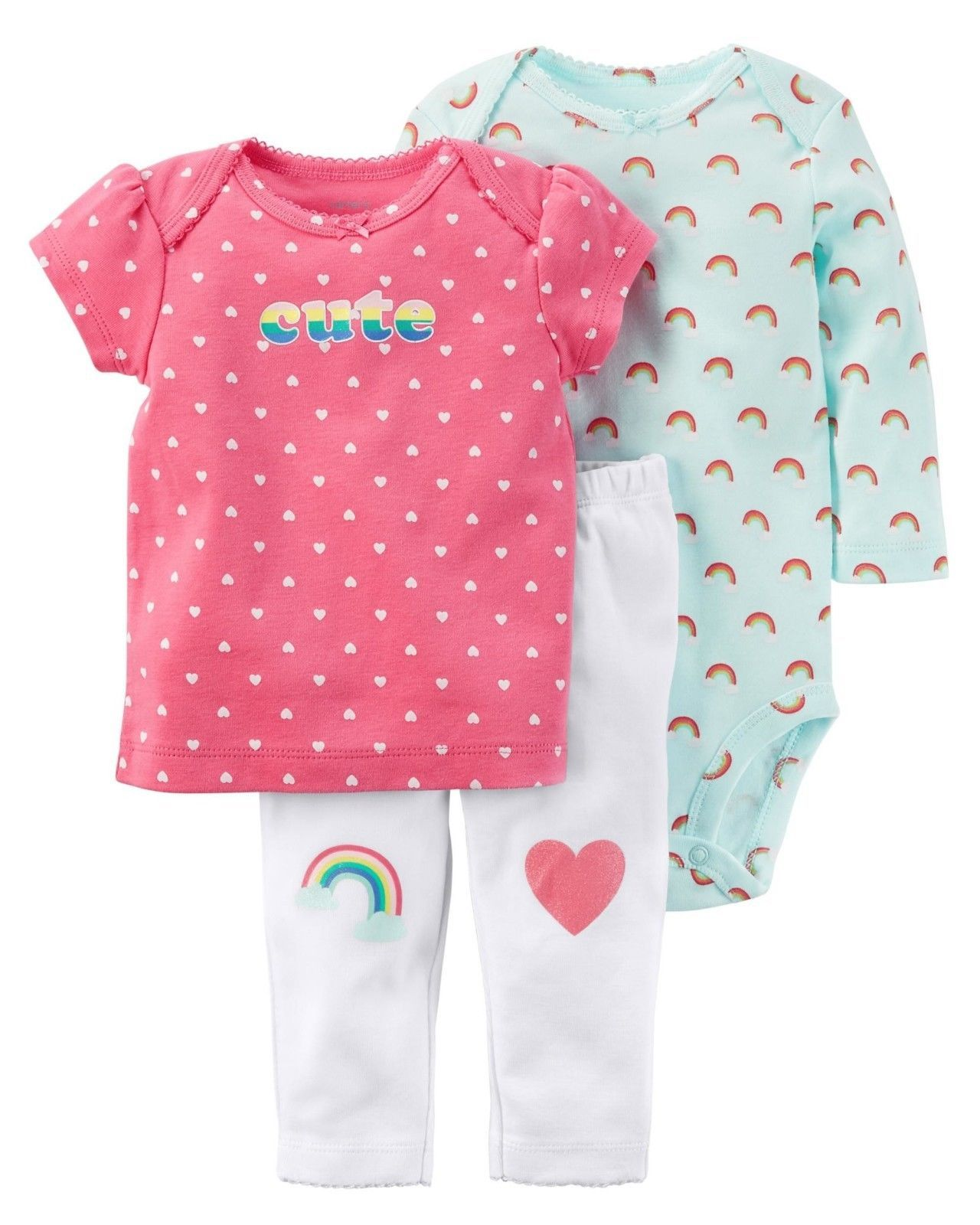 b3bb5aa55 Other Baby and Toddler Clothing 1070: New Nwt Girls Carter S Preemie  Premature 3 Piece Rainbow Heart Set Reborn Dolls -> BUY IT NOW ONLY: $14.99  on #eBay ...