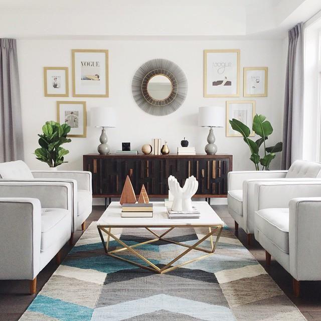 22++ Living room decor modern rug info