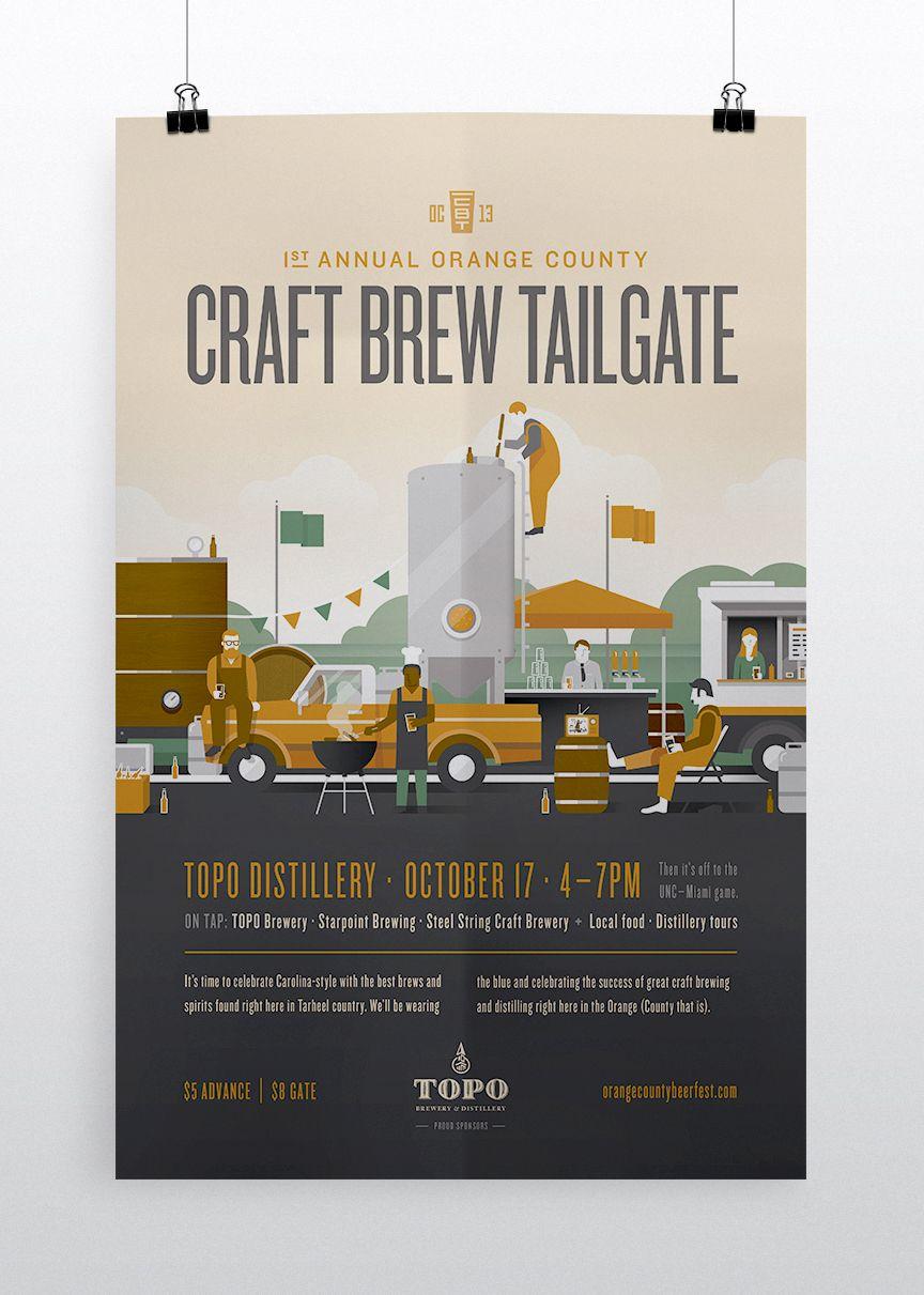 Craft Brew Tailgate poster by Matt Lawson Design | Beer Labels ... for Creative Poster Designs Inspiration  35fsj